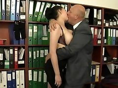 Secretary fucked by her much aged manager