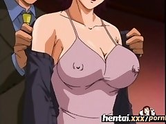 Anime Porn.xxx - Big-boobed MILF'S First Threesome