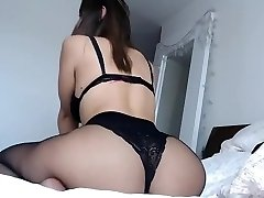 Curvey brunette big ass and tits in jaw-dropping lingerie