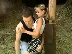 STP1 Uber-cute Teen Gets Ravaged In The Barn !