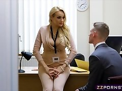 Sexy big-chested teacher torn up hard in her office