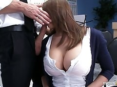 Busty babe Madison Fox plays the flute and sucks massive beefstick of her teacher