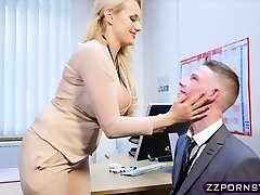 Marvelous busty professor fucked hard in her office