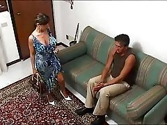 Italian big-chested HOUSEWIFE in a super-hot threesome... F70