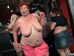 Hot plus-size party in the bar