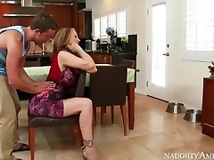 Awesome Step Mom Julia Ann loves playing