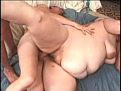 Group fucking a big babe's brains out