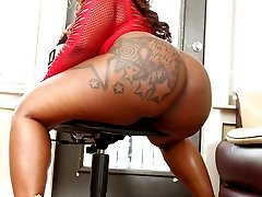 This thick black chick has more than just a big ass, she's got