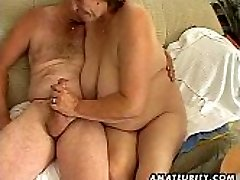Round mature fledgling wife sucks and fucks