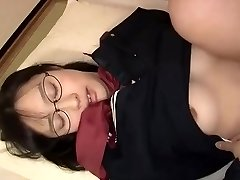 Bubble Butt Shy Japanese Student Tempt and Oiled to Have Wild Wet Sex