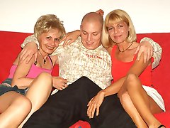 Rita and Rosalie are horny older women with perfect curves and huge appetite to share a stiff...