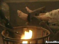 Lesbian slave in demons claw