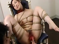 Torrid Asian babe gets stripped and led like a dog on a leash