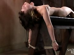 Yhivi in First Shoot Ever-19 Yr Old Learning Restrain Bondage The Rigid Way - SadisticRope