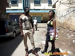 African Inexperienced Slut Street Pickup and Restroom Fuck