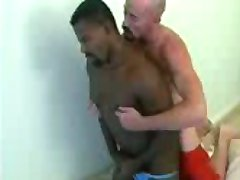 3 white guys and a black, who gets fucked for a change!!!