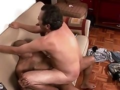 Older Faggot Couple Making Sweet Fag Love On The Couch