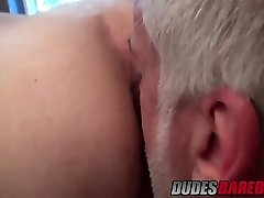 Older dude Jake Marshall smashes red-hot stud in a bathroom