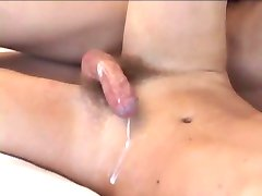 Boy cumming while geting fucked