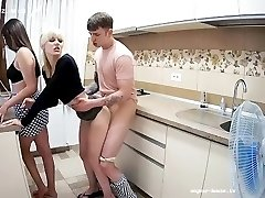 'Cheating Stepsisters ThreeSome with Timid Gay On HiddenCam PartOne'