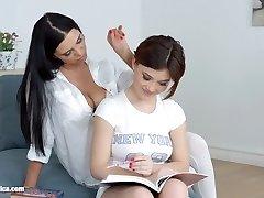 Lesson dreams by Sapphic Erotica   sensual g/g scene with Kyra Princess Veronica Moore