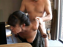 I Turned My Lil' Mexican Granny Maid Into an Anal Gimp
