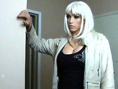Trans babe fucks slut
