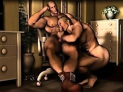 3D Homosexuals Fuck Straight Muscle Dudes!