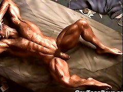 3D Muscled Gays Big Cock Fantasy!
