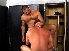 Hairy daddies Blake Nolan and Arpad Miklos pound black stud