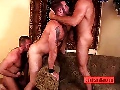 Raw bears threesome action