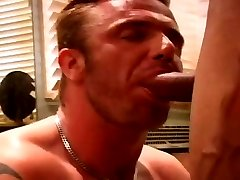 Muscle guys fucking in the bathroom