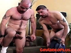 Hardcore muscle gay bear pounding