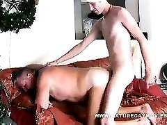 Chubby Daddy Gets Fuck By His Son On Christmas