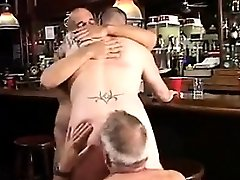 Bear Threeway At The Bar