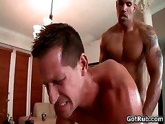 Beefcake black stud fucks muscled gay part2
