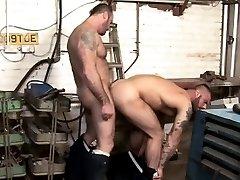 Gay muscle hunks fucking close up