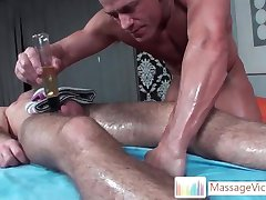 Matthew gets his dick oiled and massaged part5