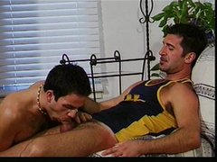 Two males sucking and fucking