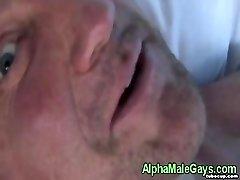 Amateur gay cubs gargle cock very closeup