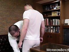 Hunk pounds mormon raw