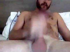Steamy Str8 Aussie with BaseballBat-Cock cums on his Hands #46