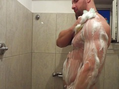 showering hot muscles