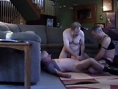 Mature 3 way with crossdresser slut Jackie dad grandpa