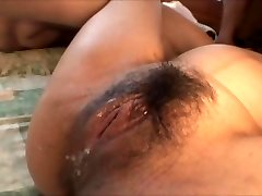 Asian pregnant chick gangbanged by a lot of guys