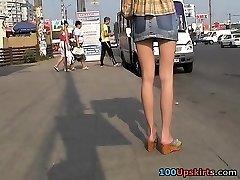 aziatische voyeur upskirt actie