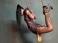 Yaner extreme hogtie-string up challenge