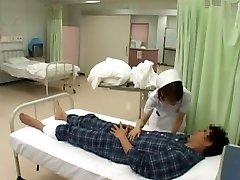 neverjetno japonski model nozomi osawa, luna kanzaki, hinata komine v pohoten medicinska sestra, nogavice jav video