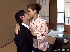 Yuri Matsushima hot mature Chinese stunner in kimono gets 69