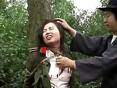 Ķīnas armijas meitene piesaistīts koks 1